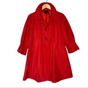 xxi Red 3/4 Sleeve Pea Coat size Large